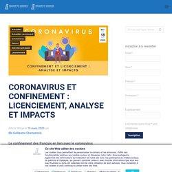 Coronavirus et confinement : licenciement, analyse et impacts - HOUDART et ASSOCIÉS