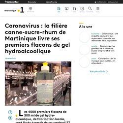 Coronavirus : la filière canne-sucre-rhum de Martinique livre ses premiers