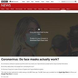 : Do face masks actually work?