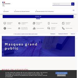 Info Coronavirus COVID-19 - Masques grand public
