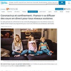 Coronavirus et confinement : France 4 va diffuser des cours en direct pour tous niveaux scolaires