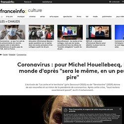 """Coronavirus : pour Michel Houellebecq, le monde d'après """"sera le même, en un peu pire"""""""