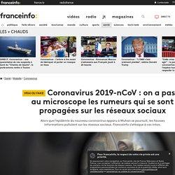 Coronavirus 2019-nCoV : on a passé au microscope les rumeurs qui se sont propagées sur les réseaux sociaux