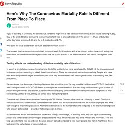 Here's Why The Coronavirus Mortality Rate Is Different From Place To Place