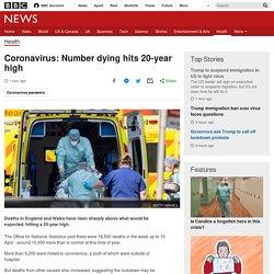 Coronavirus: Number dying hits 20-year high
