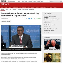 confirmed as pandemic by World Health Organization