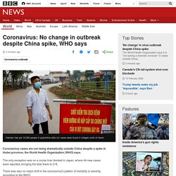 : No change in outbreak despite China spike, WHO says