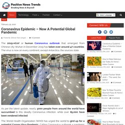 WHO urges world to prepare for Pandemic