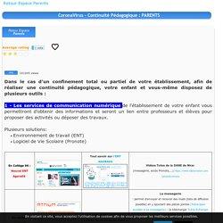 Continuité Pédagogique Académie de Nice