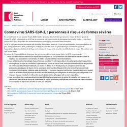 Coronavirus SARS-CoV-2,: personnes à risque de formes sévères