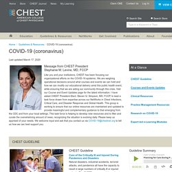 Resources - American College of Chest Physicians