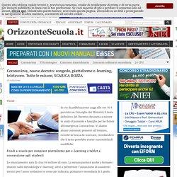 Coronavirus, nuovo decreto: congedo, piattaforme e-learning, telelavoro. Tutte le misure, SCARICA BOZZA