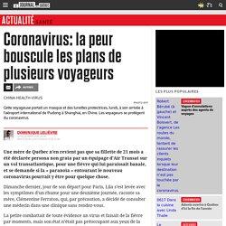 Coronavirus: la peur bouscule les plans de plusieurs voyageurs