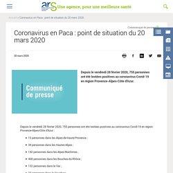 Coronavirus en Paca : point de situation du 20 mars 2020