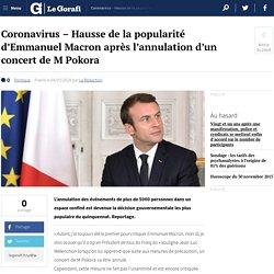 Coronavirus - Hausse de la popularité d'Emmanuel Macron après l'annulation d'un concert de M Pokora