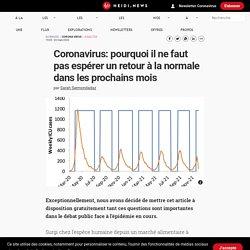 Coronavirus: pourquoi il ne faut pas espérer un retour à la normale dans les prochains mois