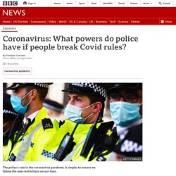 Coronavirus: What powers do the police have?