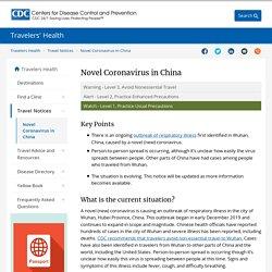 Novel Coronavirus in China - Watch - Level 1, Practice Usual Precautions - Travel Health Notices