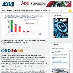 Coronavirus: IATA predicts $27.8 billion revenue loss for Asia-Pacific airlines in 2020