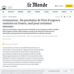 Coronavirus: fin prochaine de l'état d'urgence sanitaire en France, sauf pour certaines mesures