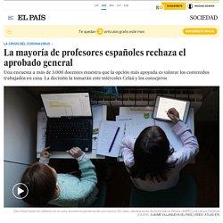 Coronavirus: La mayoría de profesores españoles rechaza el aprobado general