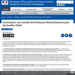 Coronavirus : les conseils du Professeur Richard Delorme pour les familles TDAH