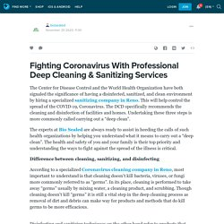 Fighting Coronavirus With Professional Deep Cleaning & Sanitizing Services: biosealed — LiveJournal