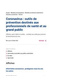Coronavirus : outils de prévention destinés aux professionnels de santé et au grand public