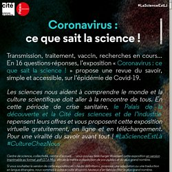 Coronavirus : ce que sait la science !