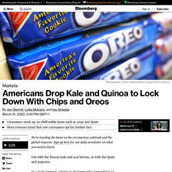 Food and Coronavirus: Kale, Quinoa, Acai vs. Spam, Oreos, Popcorn