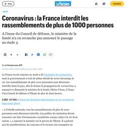 Coronavirus : la France interdit les rassemblements de plus de 1000 personnes