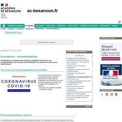 Coronavirus - recommandations