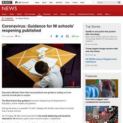 : Guidance for NI schools' reopening published
