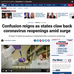 Confusion reigns as states claw back coronavirus reopenings amid surge