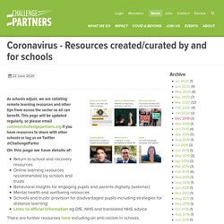 Coronavirus - Resources created/curated by and for schools
