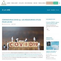 Coronavirus COVID-19 : ressources utiles pour les RH