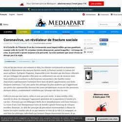 Coronavirus, un révélateur de fracture sociale