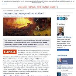Coronavirus: une punition divine? - Afis Science - Association française pour l'information scientifique