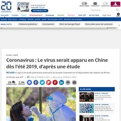 Coronavirus: Le virus serait apparu en Chine dès l'été 2019, d'après une étude...
