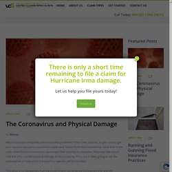 The Coronavirus and Physical Damage - United Claims Specialists