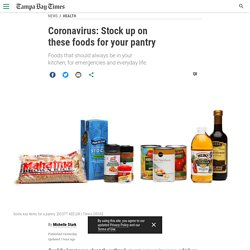 Coronavirus: Stock up on these foods for your pantry