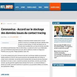Coronavirus - Accord sur le stockage des données issues du contact tracing