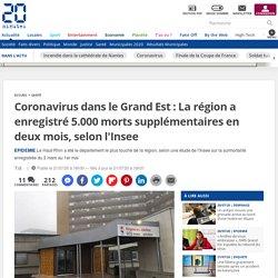 20MINUTES 21/07/20 Coronavirus dans le Grand Est : La région a enregistré 5.000 morts supplémentaires en deux mois, selon l'Insee