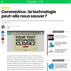 Coronavirus : la technologie peut-elle nous sauver ?