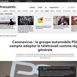 Coronavirus : le groupe automobile PSA compte adopter le télétravail comme règle générale
