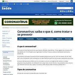 Coronavírus: saiba o que é, como tratar e se prevenir