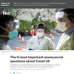 Coronavirus Covid-19: les questions les plus importantes sans réponse