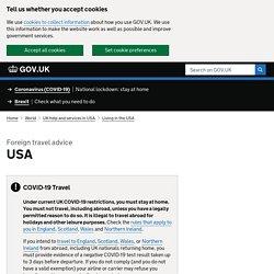 Coronavirus - USA travel advice