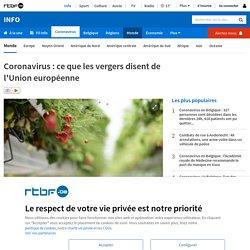 Coronavirus: ce que les vergers disent de l'Union européenne