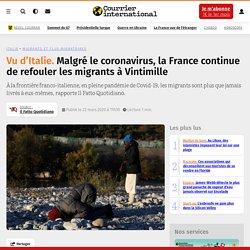 Malgré le coronavirus, la France continue de refouler les migrants à Vintimille